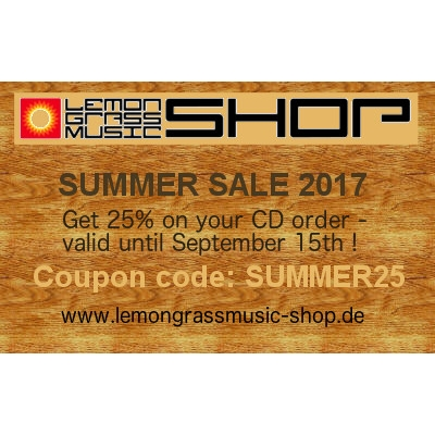 Lemongrassmusic CD Summer Sale 2017